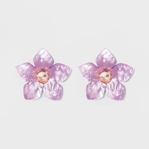 SUGARFIX by BaubleBar Flower Resin Earrings-Lilac